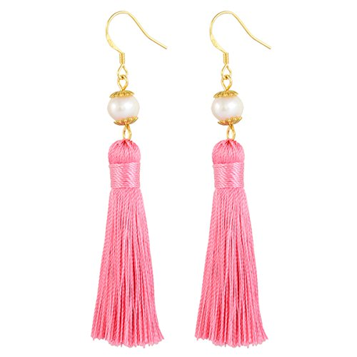 Holly Gift Boxed Pearl Tassel Earrings Inspired By Breakfast At Tiffany's - Utopiat