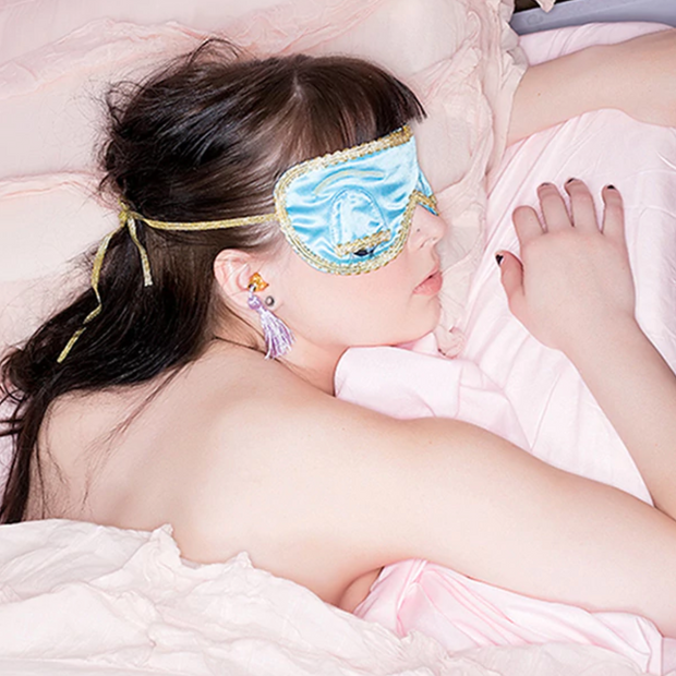 Holly Sleep Mask in Tiffany Turquoise Inspired By Breakfast At Tiffany's - Utopiat