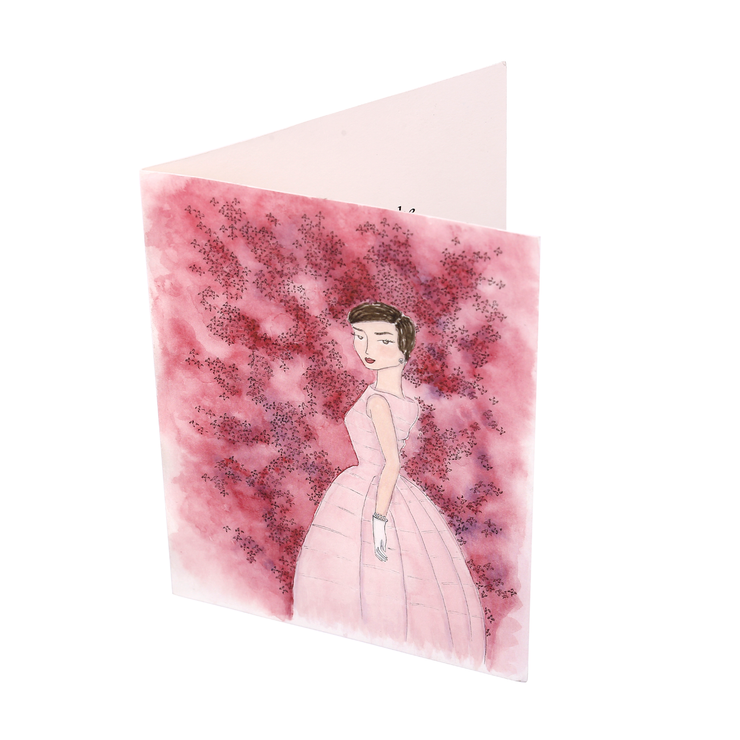 Audrey + the Azalea Hand Illustrated Greeting Card