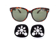 Holly Tortoise Shell Sunglasses & Oversized Earrings Inspired By Breakfast At Tiffany's