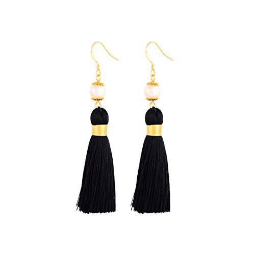 Holly Gift Boxed Pearl Tassel Earrings - Breakfast At Tiffany's