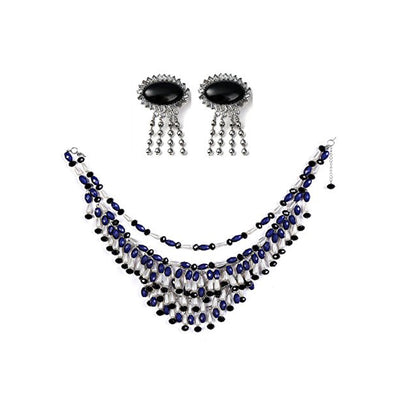 Holly Fringe Oversized Costume Jewelry Set Inspired By Breakfast At Tiffany's - Utopiat