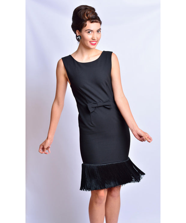 Holly Black Fringe Dress Inspired By Breakfast At Tiffany's