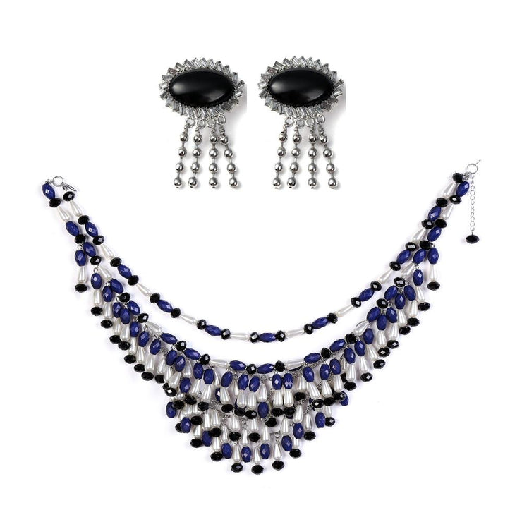 Holly Gift Boxed Fringe Oversized Costume Jewelry Set Inspired By Breakfast At Tiffany's - Utopiat