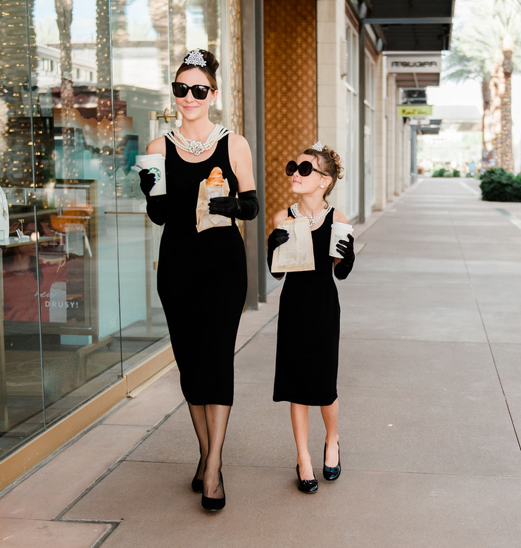 Mommy and Me Holly Iconic Cotton Costume Set Inspired By Breakfast At Tiffany's - Utopiat