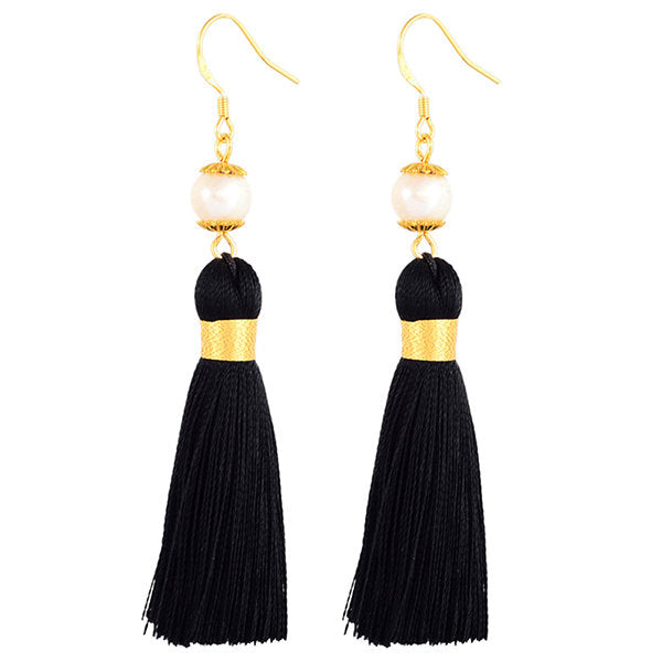Holly Pearl Tassel Earrings Inspired By Breakfast At Tiffany's - Utopiat