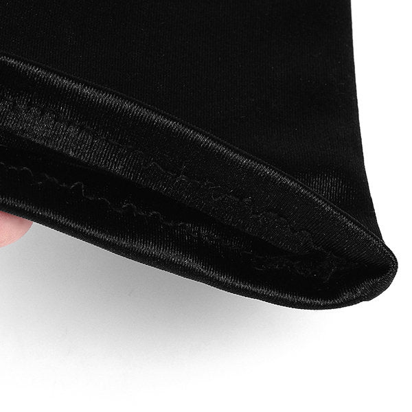Holly Premium Black Satin Gloves Inspired By Breakfast At Tiffany's - Utopiat