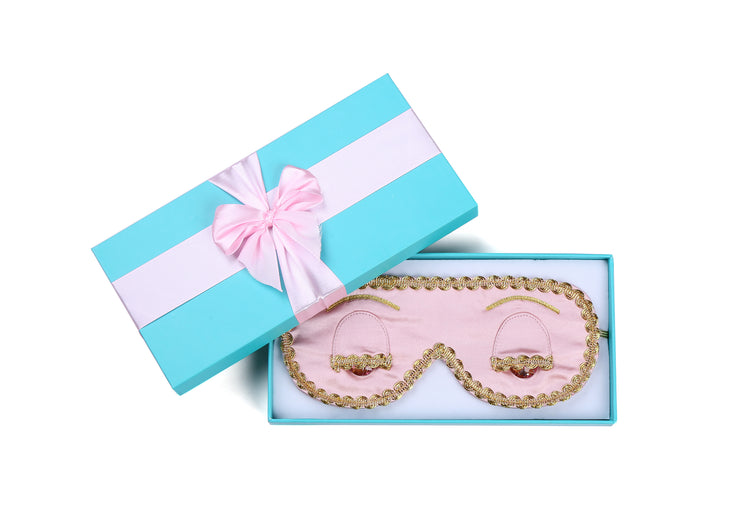 New Year & Christmas Gift for Women, Girlfriend | Breakfast at Tiffany's - Holly Gift Boxed Sleep Mask in Technicolors