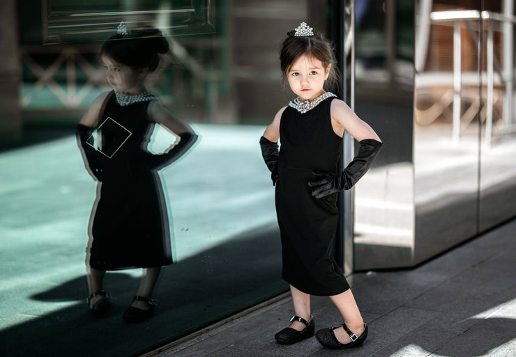 Mommy and Me Holly Iconic Cotton Costume Set Inspired By Breakfast At Tiffany's