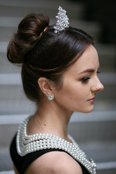 Holly Pearl Tiara Inspired By Breakfast At Tiffany's