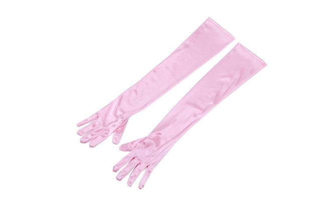 Premium Long Gloves In Colorful Satin Inspired By Audrey Hepburn - Utopiat