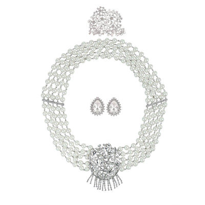 Premium Holly Crystal 3 Piece Iconic Accessories Set Inspired By Breakfast At Tiffany's - Utopiat