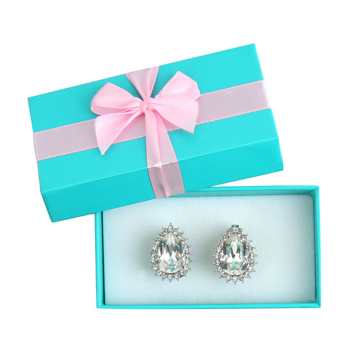 Holly Gift Boxed Premium Crystal Earrings - Breakfast At Tiffany's