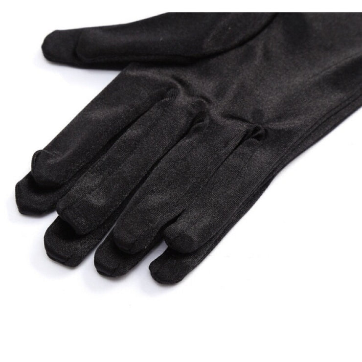 Mini Holly Black Satin Gloves - Breakfast At Tiffany's