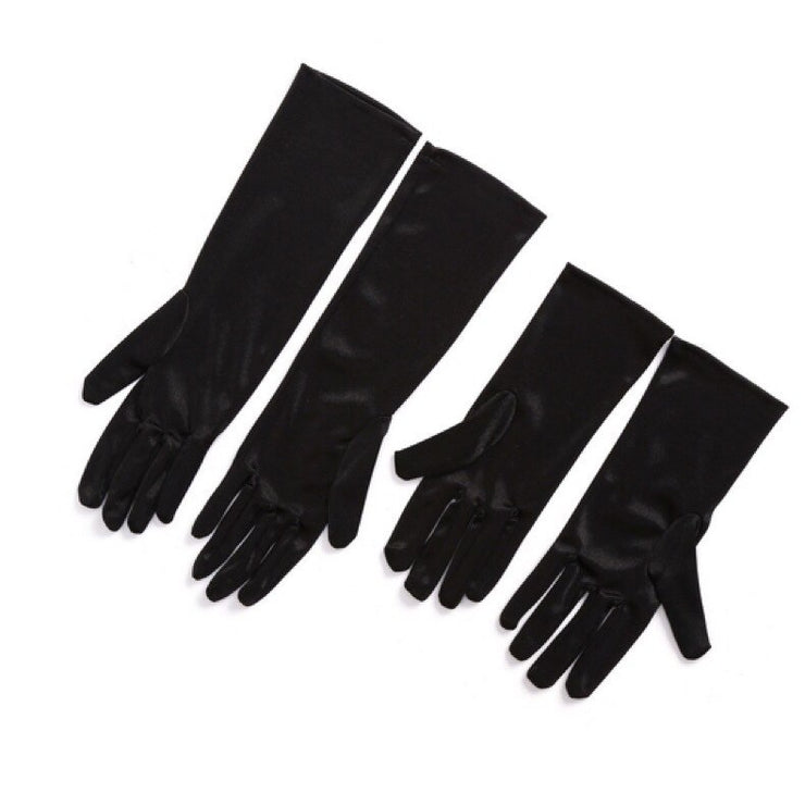Mini Holly Black Satin Gloves Inspired By Breakfast At Tiffany's - Utopiat