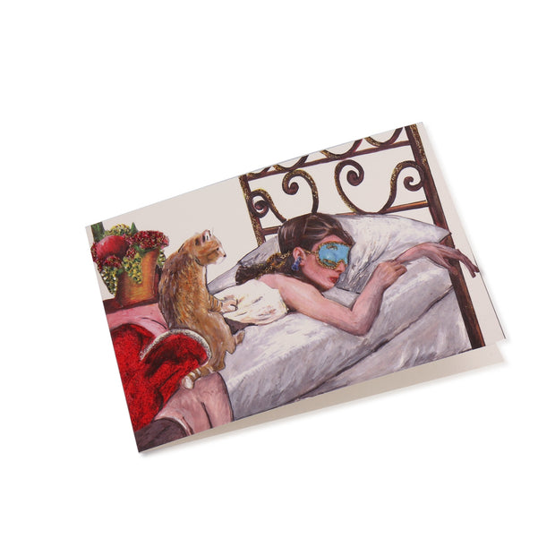 All Occasion Greeting Card - Be like Audrey - Be a Sleeping Beauty - Utopiat