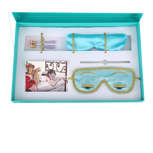 Holly Gift Boxed Sleepy Audrey Styled Set Inspired From Breakfast At Tiffany's - Utopiat