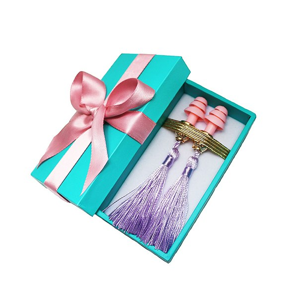 Breakfast at Tiffany's - Holly Gift Boxed Tassel Ear Plugs in Lavender Dream