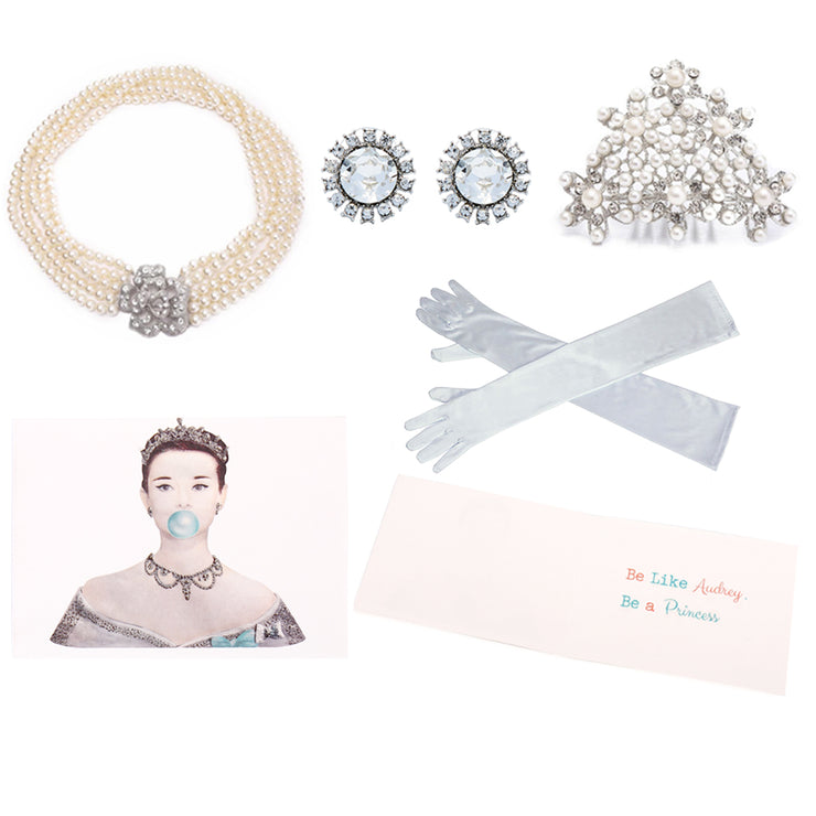 Holly Gift Boxed Princess Audrey Styled Set Inspired From Breakfast At Tiffany's - Utopiat