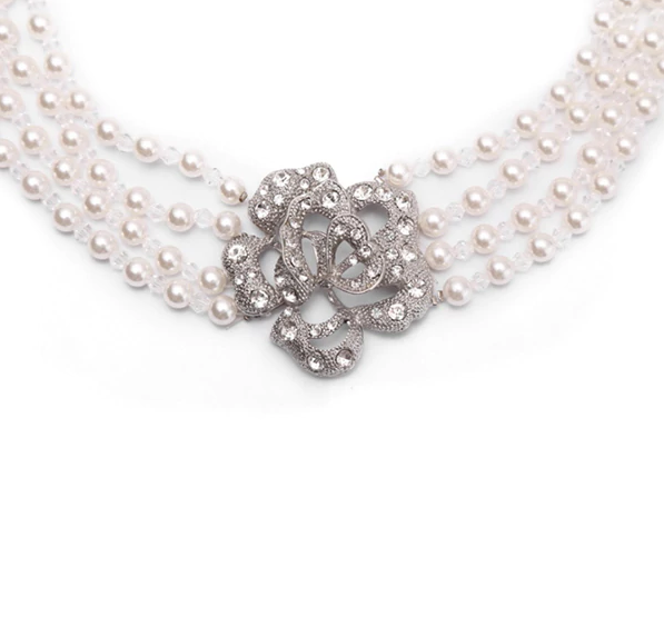 Mini Holly 4 Strand Pearl Necklace Inspired By Breakfast At Tiffany's - Utopiat