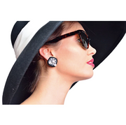 Breakfast at Tiffany's - Holly Cat Eyed Sunglasses and Costume Earrings Set