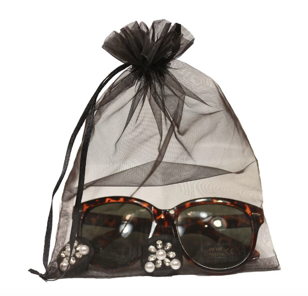 Holly Tortoise Shell Sunglasses & Oversized Earrings Inspired By Breakfast At Tiffany's - Utopiat