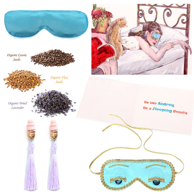 Holly Gift Boxed Sleepy Audrey Set - Breakfast At Tiffany's