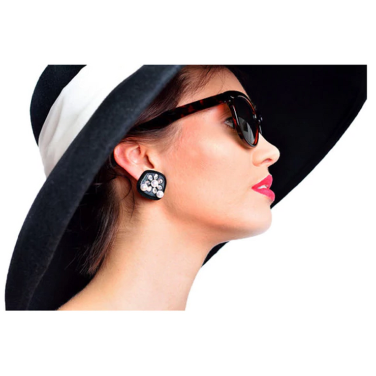 Holly Oversized Black Earrings - Breakfast At Tiffany's