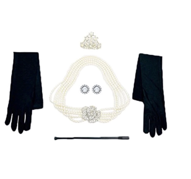 Breakfast at Tiffany's Mommy and Mini Audrey Matching Holly Cotton Costume Set