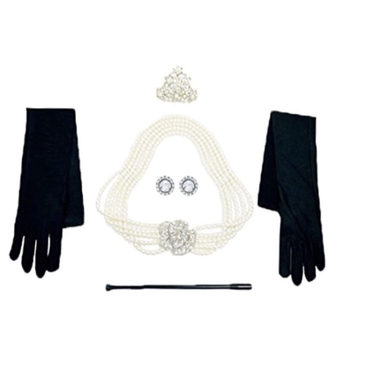 Holly 5 Piece Iconic Accessories Set Inspired By Breakfast At Tiffany's - Utopiat