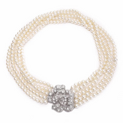 Holly 5 Strand Pearl Necklace Inspired By Breakfast At Tiffany's - Utopiat
