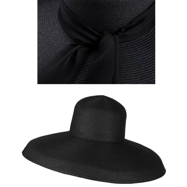 Miu- The Holiday Hat In Black Inspired By Audrey Hepburn