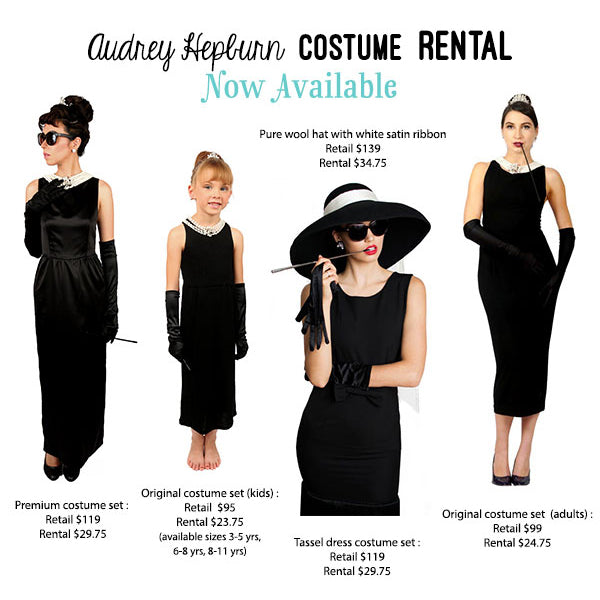 Audrey Hepburn Costume Sets Rental