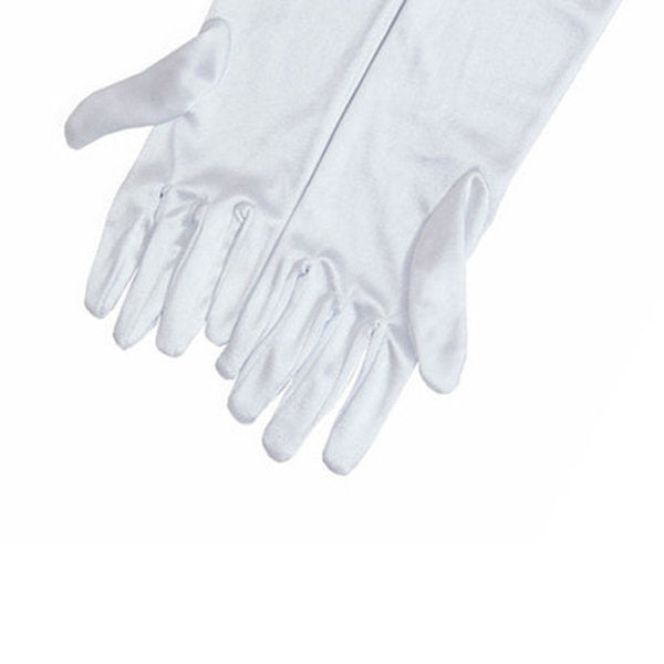 Holly Premium White Satin Gloves - Breakfast At Tiffany's