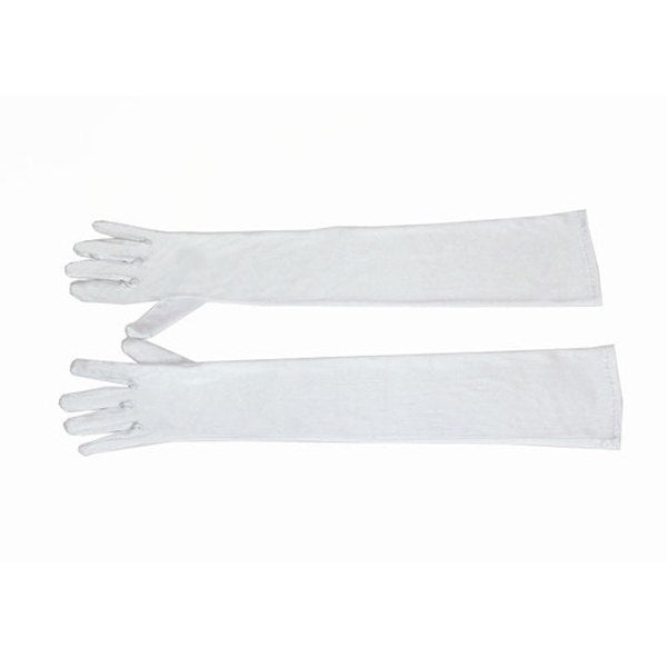 Breakfast at Tiffany's - Holly Premium Long White Satin Gloves