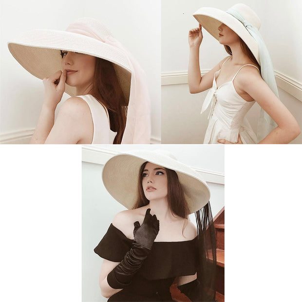 Miu - The Holiday Hat In White Inspired By Audrey Hepburn