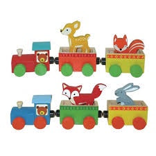 Wooden Forest Animal Train
