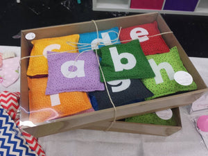 Alphabet Bean Bag set