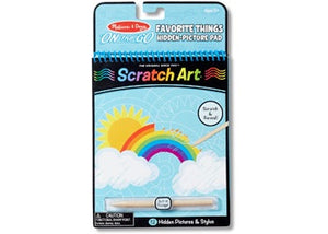 On the Go SCRATCH ART activity pad FAVOURITE THINGS