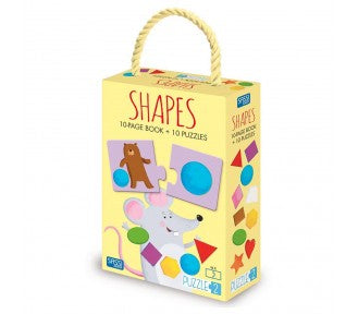 Sassi Puzzle and Book - SHAPES