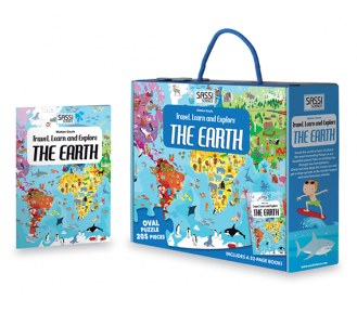 Travel, Learn and Explore Puzzle and Book Set - THE EARTH