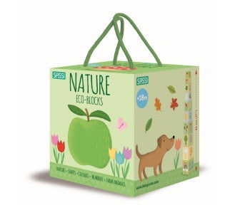 Sassi My First Nature 123 Eco Blocks & Book Set - NEW LOOK