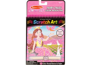 On the Go SCRATCH ART activity pad FAIRY TALE
