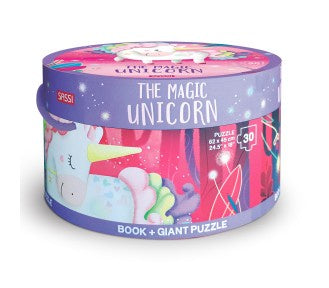 Sassi Book and Giant Puzzle - THE MAGIC UNICORN