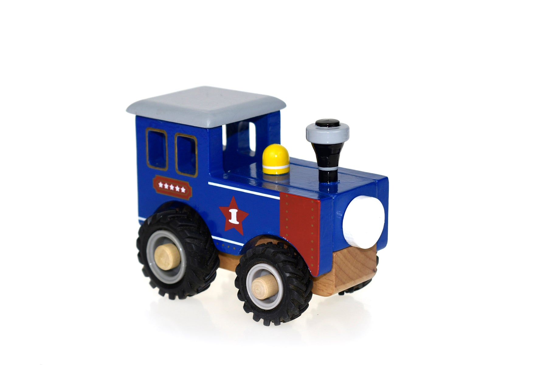 Wooden Train BLUE