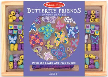 Butterfly Friends Wooden Bead Set