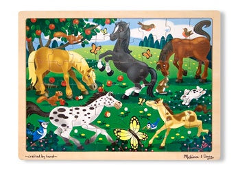Frolicking Horses Jigsaw Puzzle - 48 piece