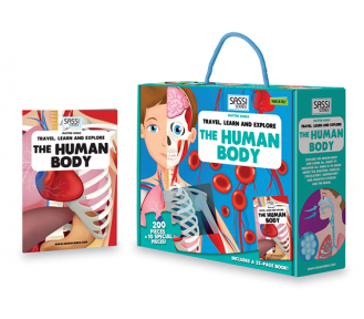 Travel, Learn and Explore Puzzle and Book Set - THE HUMAN BODY