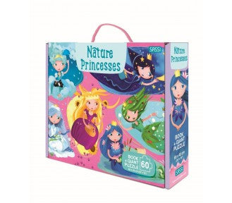 Sassi Book and Giant Puzzle - NATURE PRINCESSES