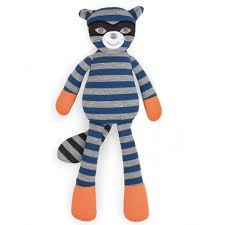 Organic Farm Buddies Plush Toys - Robbie Raccoon